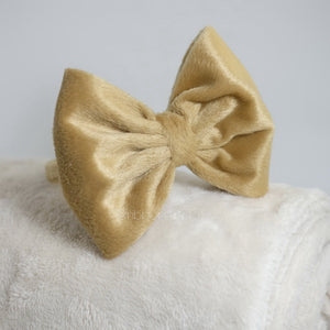 Big Khaki Fur Bow Bando