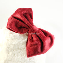 Big Bow Fur Bando Maroon
