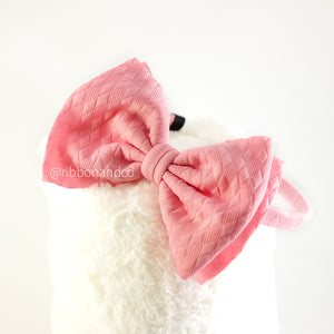 Ashley Bow Medium Pink Bando