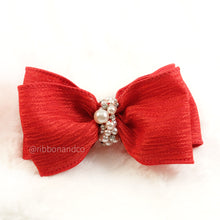 Arcilla Bow In Red Only Clip/Headband