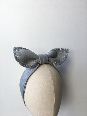 Bunny Lolita Grey With Grey Sparkle