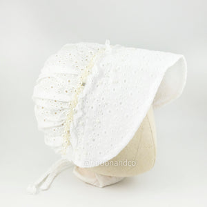 electa white bonnet