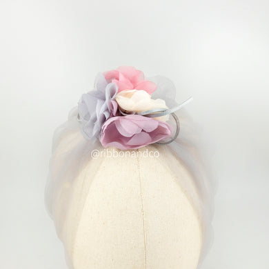 Turban Tulle Grey