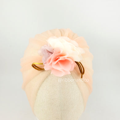 Turban Tulle Peach