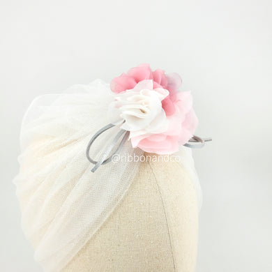 Turban Tulle White