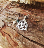 Celtic Knot Hand Stamped family necklace - Outlander