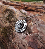 Hand Stamped  necklace - I'd rather be in Lallybroch - Je suis Prest - pewter