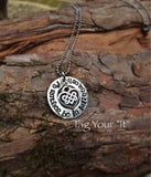 Pewter was her with heart Celtic knot