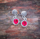 Celtic knot earrings - Choose your color stone.