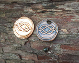 MOBY - fine silver or copper wax seal pendant - Large