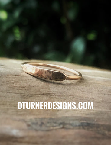 Rose gold plated stainless steel or bright silver ring