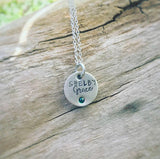 Mommy necklace with inlaid birthstone