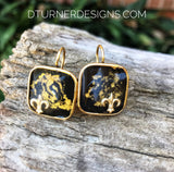 Large Gold plated earrings