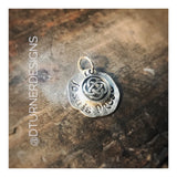Hand Stamped Sassenach or je suis prest CHARM ONLY