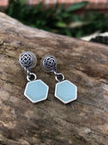 Celtic knot and hexagon earrings - set shown in photos