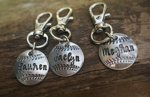 Sports Ball handstamped necklace or bracelet