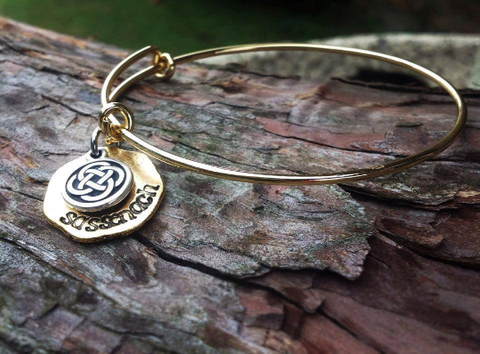 Hand Stamped Sassenach adjustable bracelet