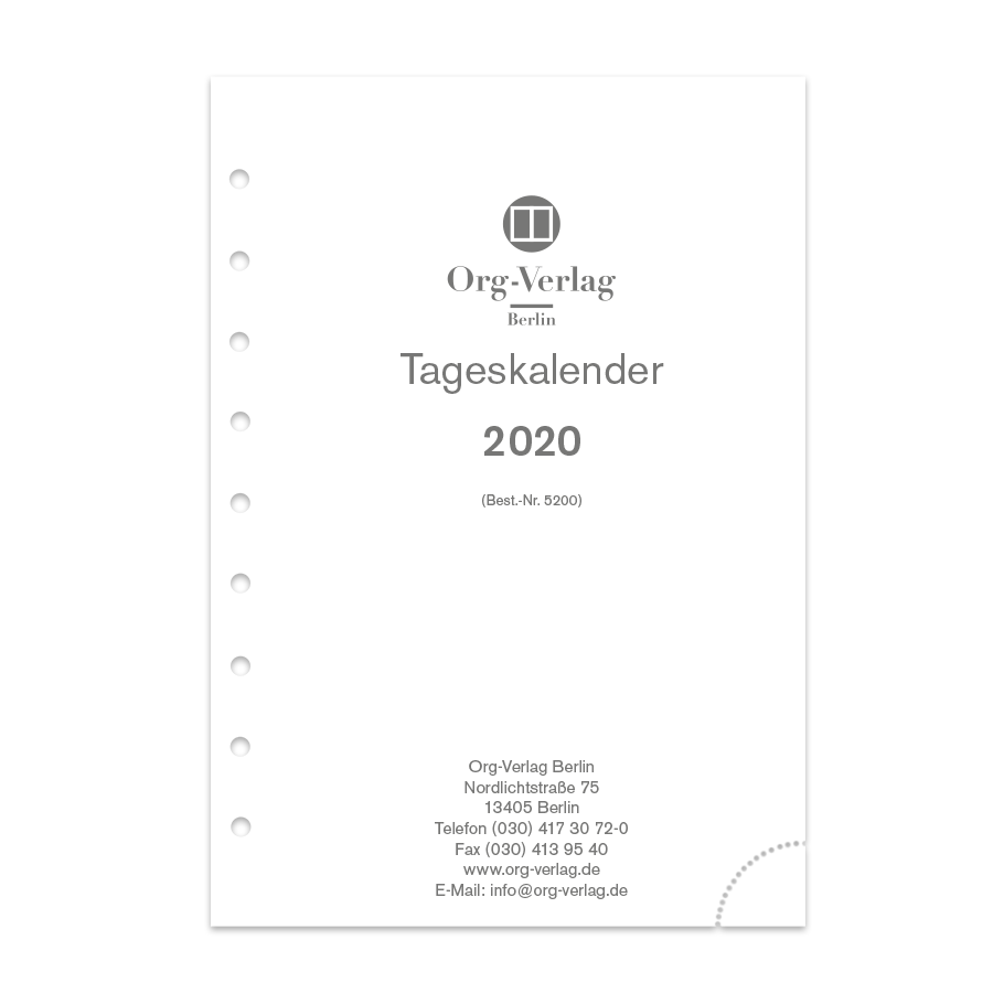 Tageskalender pro Tag 1 Seite Junior DIN A5