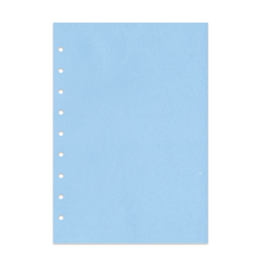 Notizpapier in blau ohne Perforation 50 Blatt Junior Piccolo DIN A5