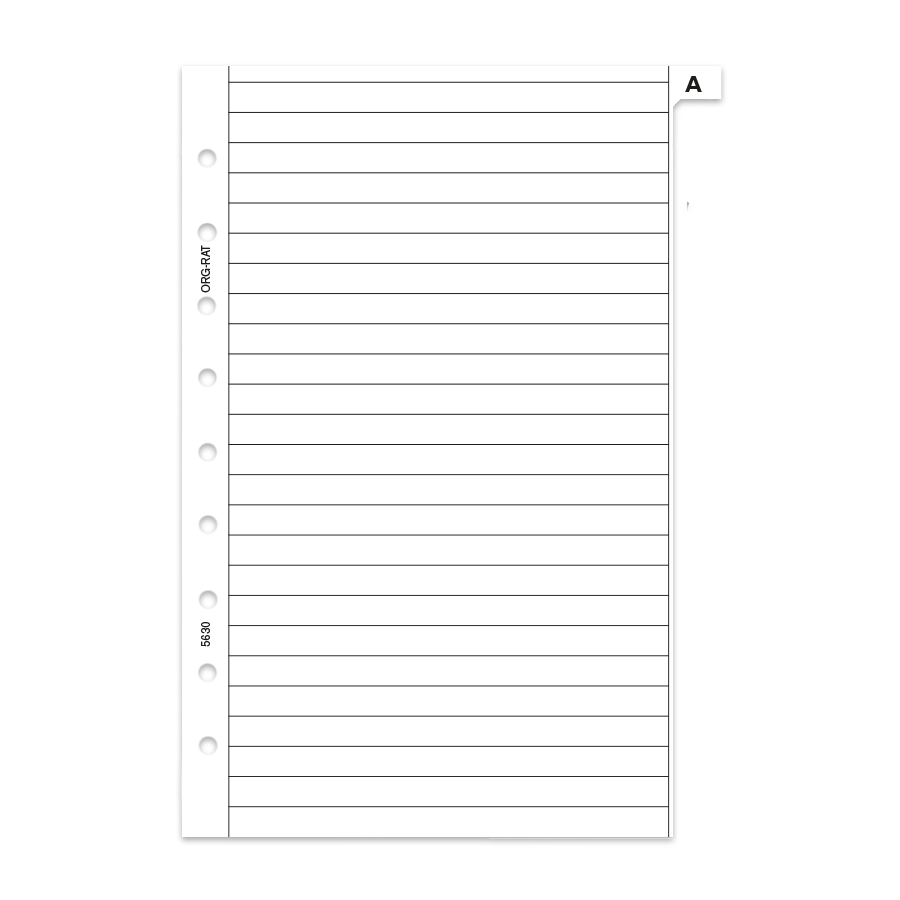 ABC-Register aus festerem Papier Junior A5 weiss