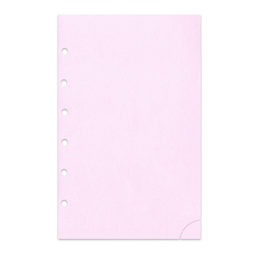 Notizpapier in rosa 50 Blatt mit Perforation Piccolo Junior DIN A5