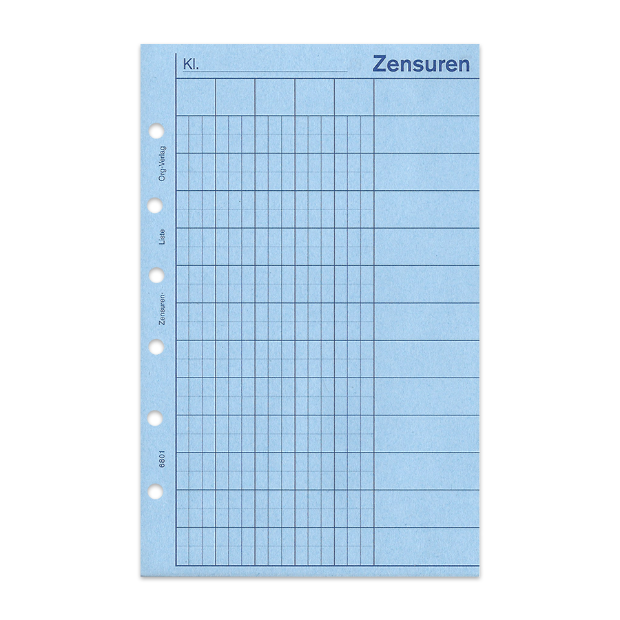 Zensurenliste 20 Blatt Junior DIN A5