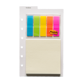 Karte mit Indexstreifen und Haftnotizen 20 Post Its Junior DIN A5
