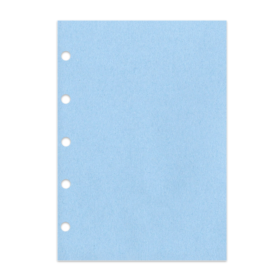 Notizpapier in blau 50 Blatt Junior Piccolo DIN A5 ohne Perforation