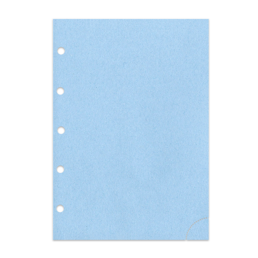 Notizpapier in blau 50 Blatt Junior Piccolo DIN A5 mit Perforation