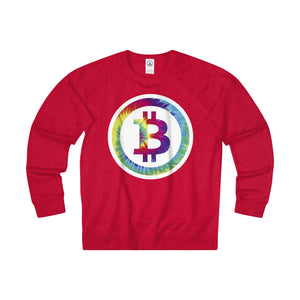 Bitcoin Hippy Adult Unisex French Terry Crew