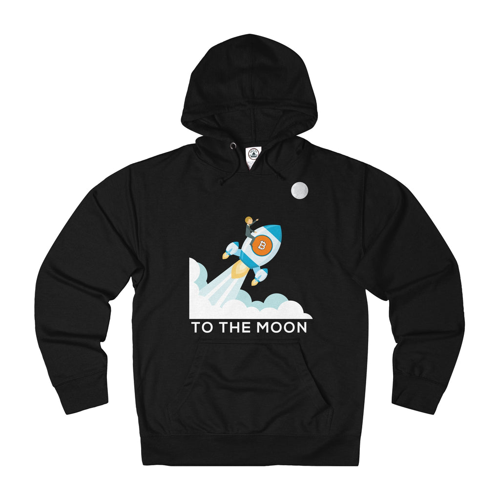 Bitcoin To The Moon! Adult Unisex French Terry Hoodie