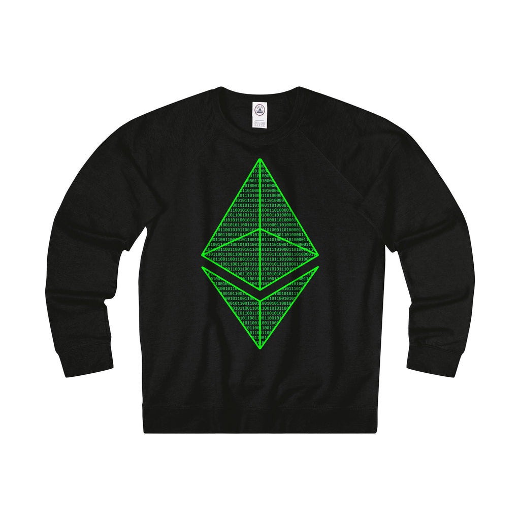 Ethereum Matrix Adult Unisex French Terry Crew