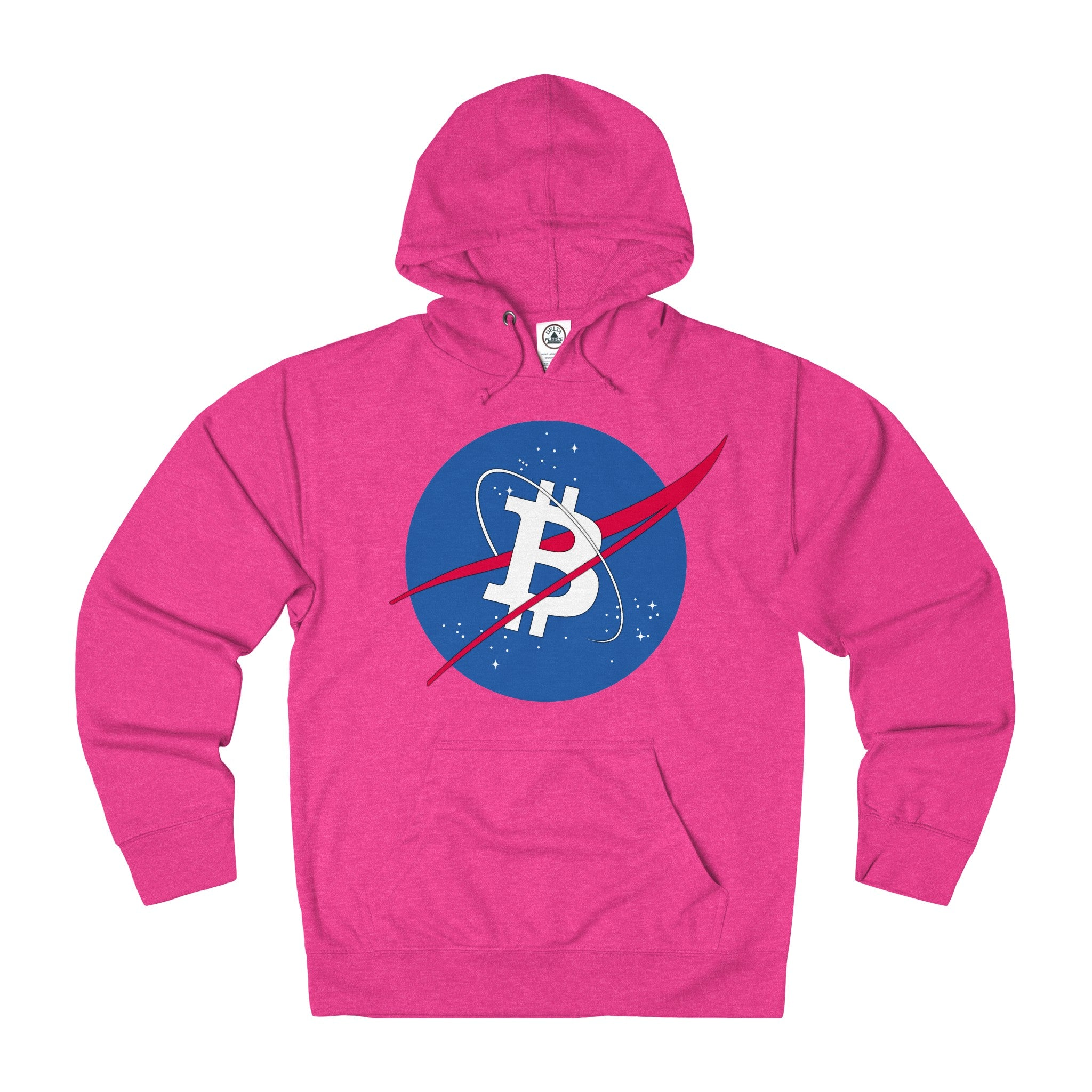 Bitcoin Space Adult Unisex French Terry Hoodie