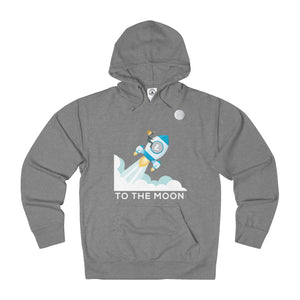 Litecoin To The Moon! Adult Unisex French Terry Hoodie