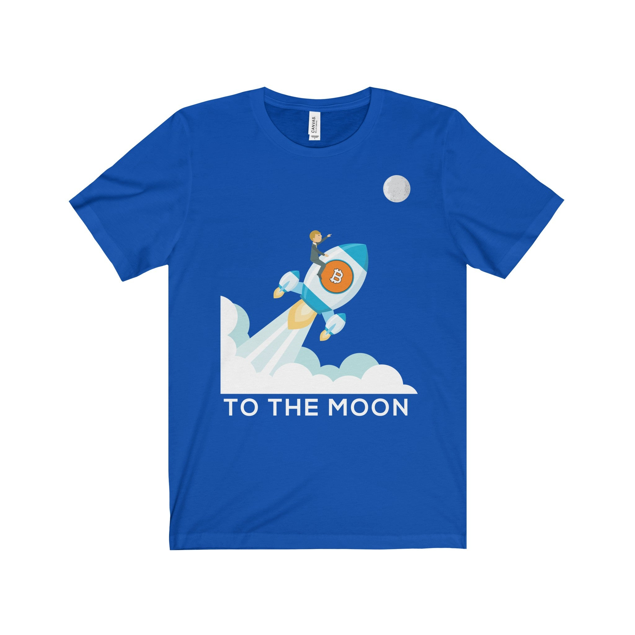 Bitcoin To The Moon! Unisex Jersey Short Sleeve Tee