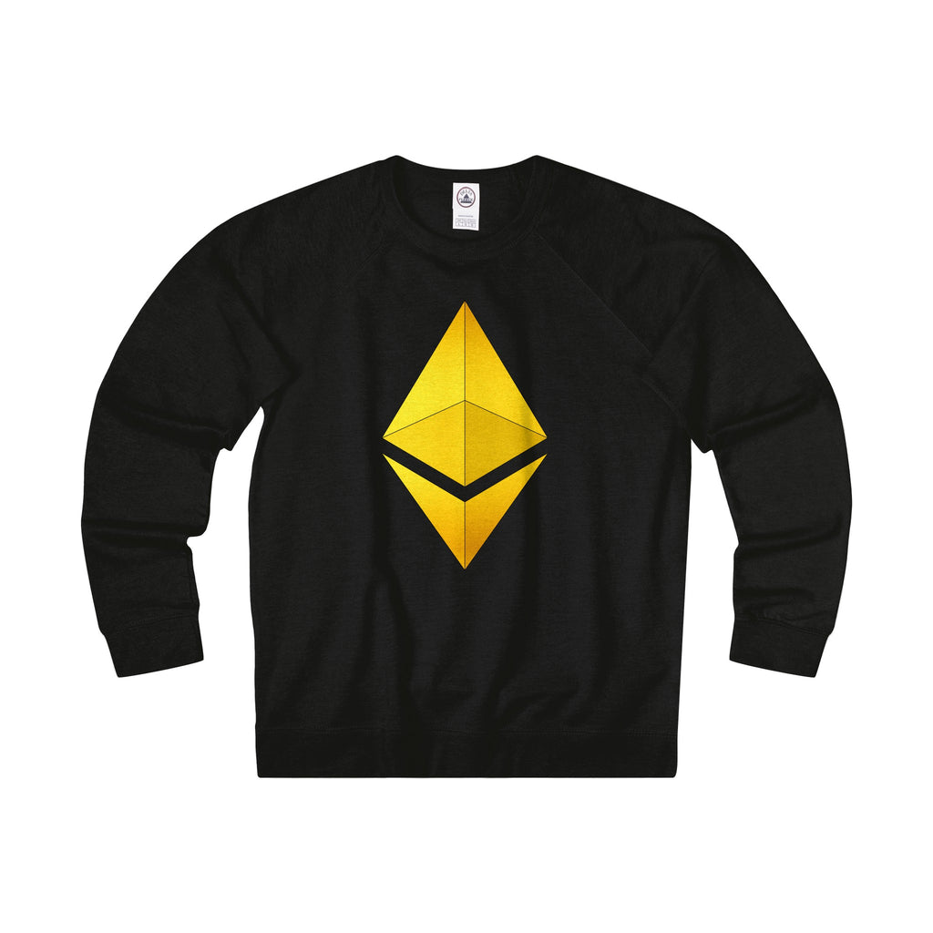 Ethereum 24K of Gold Adult Unisex French Terry Crew