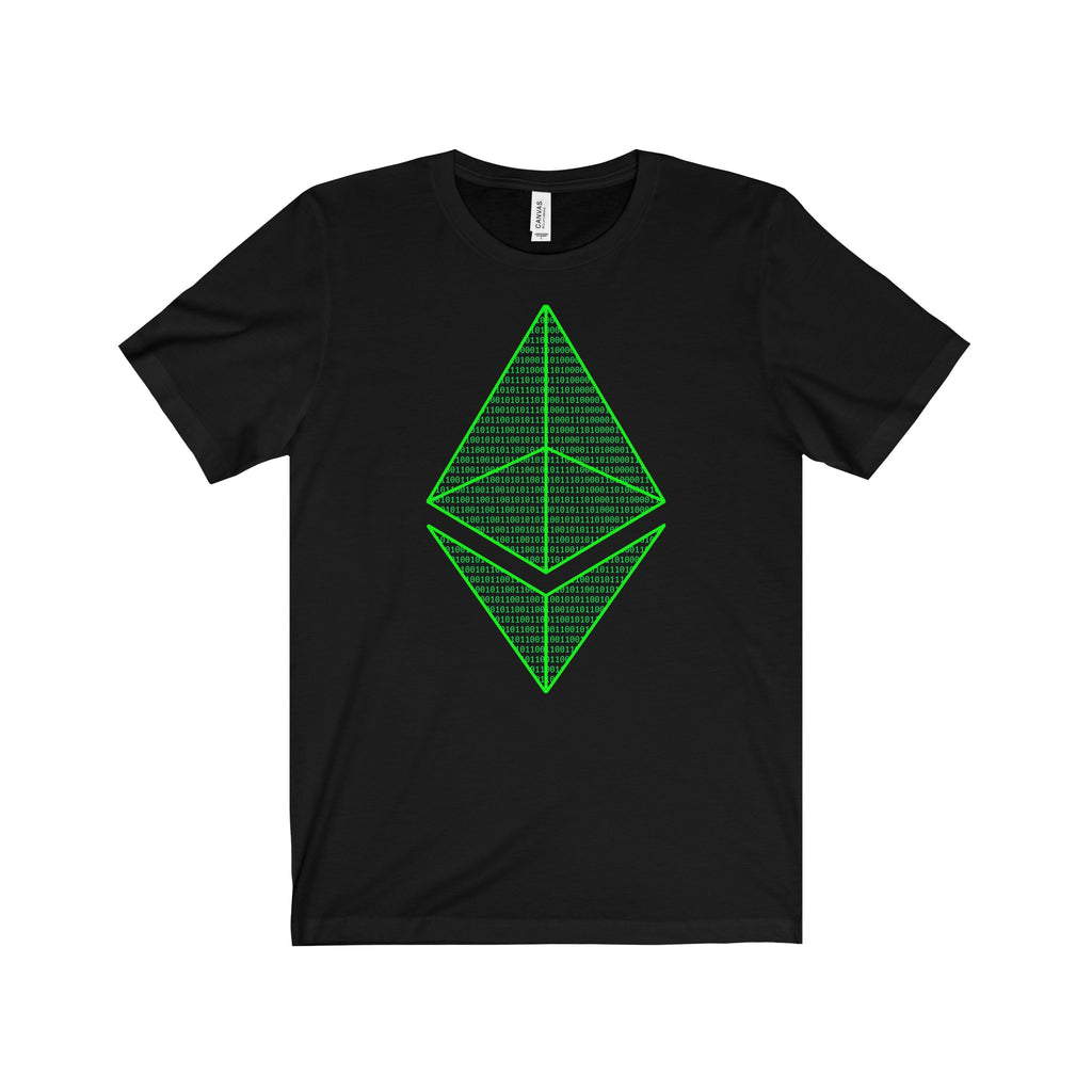 Ethereum Matrix Unisex Jersey Short Sleeve Tee