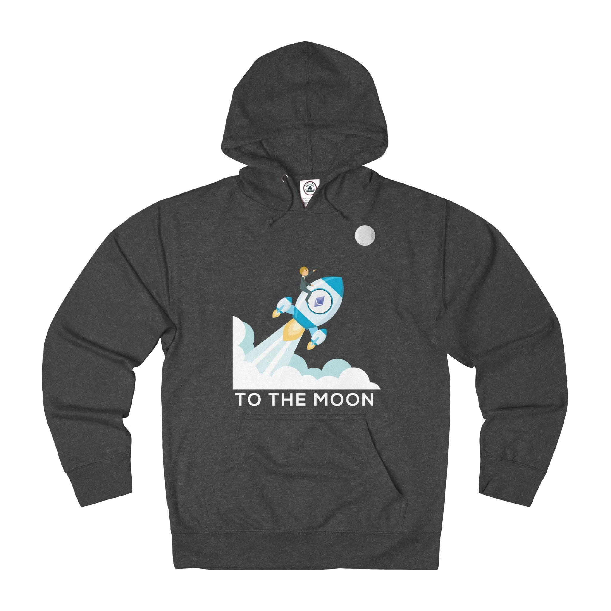 Ethereum To The Moon! Adult Unisex French Terry Hoodie