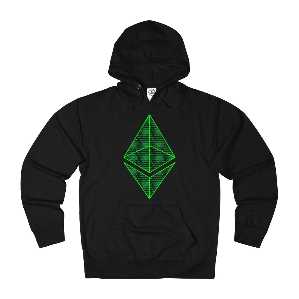 Ethereum Matrix Adult Unisex French Terry Hoodie