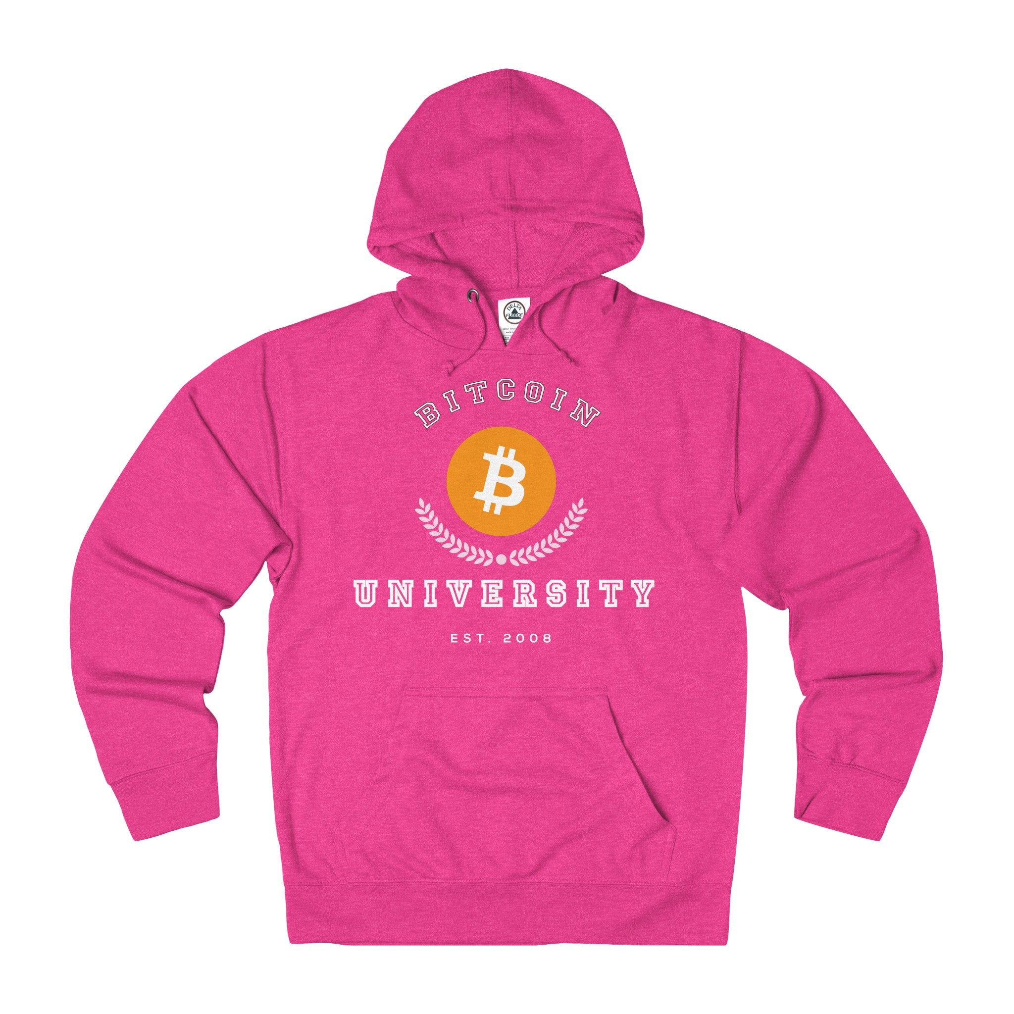 Bitcoin University Adult Unisex French Terry Hoodie