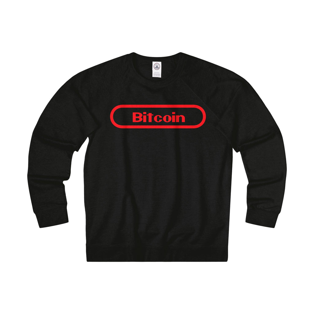 Bitcoin Gamer Adult Unisex French Terry Crew