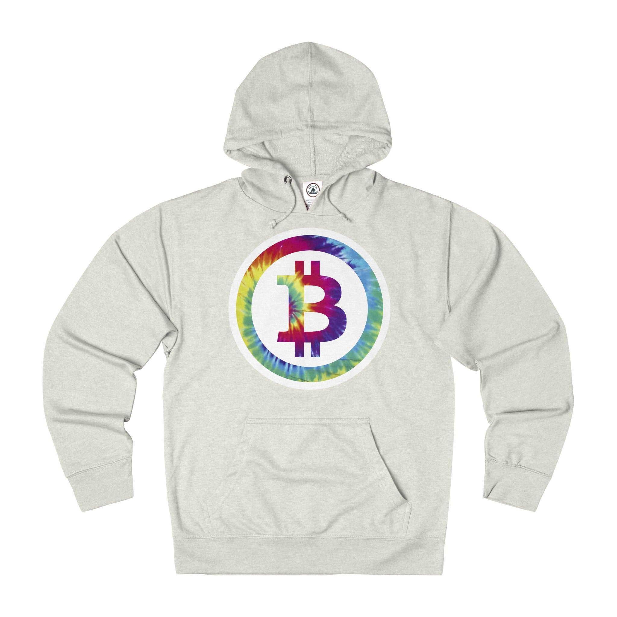 Bitcoin Hippy Adult Unisex French Terry Hoodie