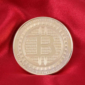 Alloy Bitcoin Commemorative Electroplating BTC Coin Collection Gifts Non-currency Coins Home Decoration Crafts E5M1