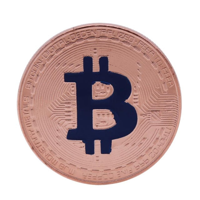 Copper Plating Bitcoin Commemorative Coin Travel Souvenir BTC Collection Gifts Non-currency Coins Drop Shipping