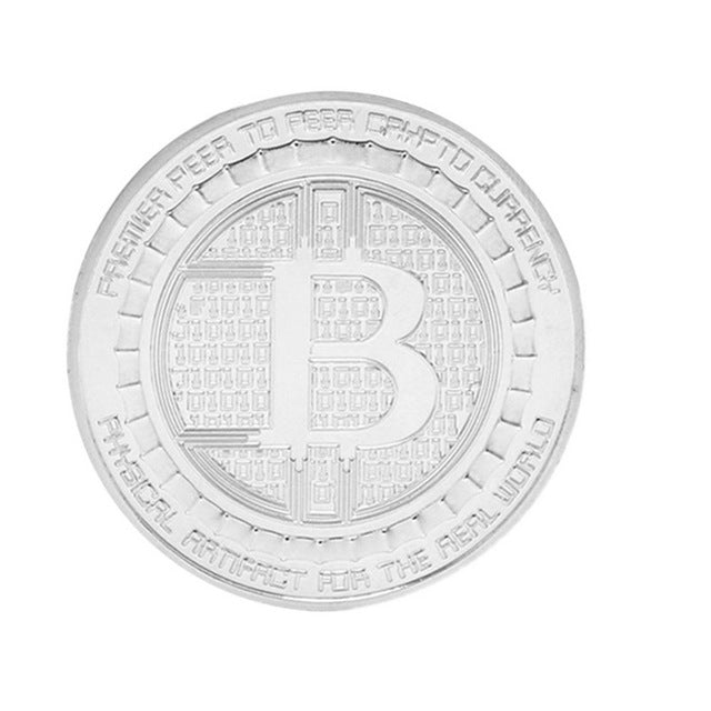 4 cm Bitcoin Coin Collection Art Gift Ripple Coin Currency Gift Physical Art Commemorative ETN DASH Coin Gift