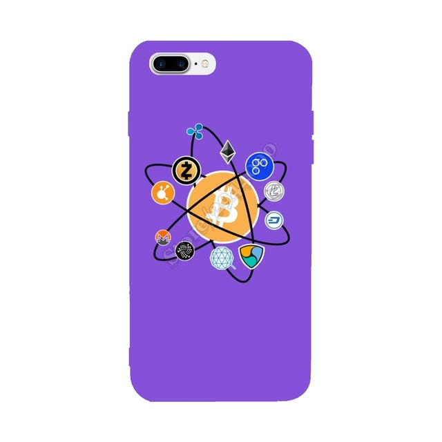 Bitcoin Nem Litecoin Dash Zcash Ethereum Monero Ripple Cryptocurrency For Iphone X Case Covers For Iphone 6S 6 7 8 Plus Case