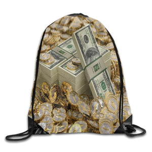 SAMCUSTOM cryptocurrency Bitcoin Shoulders Bag Fabric Backpack men and women Port Drawstring Travel Shoes Dust Storage Bags
