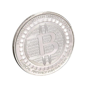 Zinc Alloy Plated Bitcoin Commemorative Coin Art Collection Tourism Travel Gift Home Decoration Non-currency Coins
