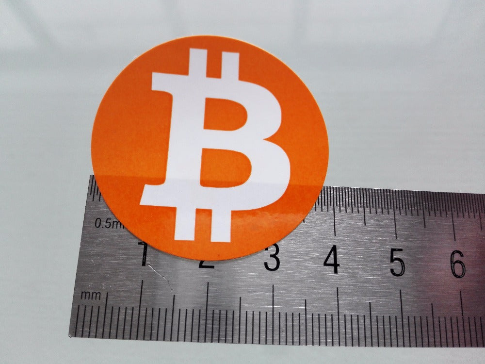 240pcs/lot diameter 4cm bitcoin logo stickers Self-adhesive cryptocurrency label, Item No.FS18