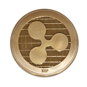 Ripple Coin Commemorative Round  Ripple Non-Currency Electroplating Coin Collectible BitCoin Art Collection Gift